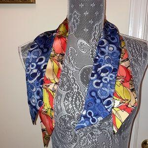 Coach Double-sided Silk Twilly Headscarf Lot 2